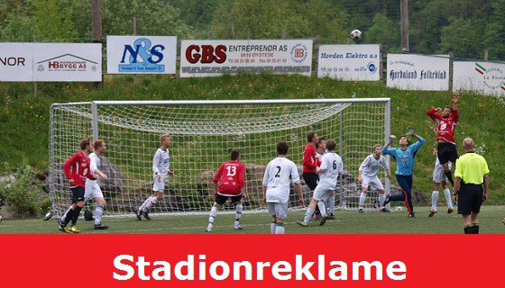 Reklamere for din verksemd på Norheimsund stadion?